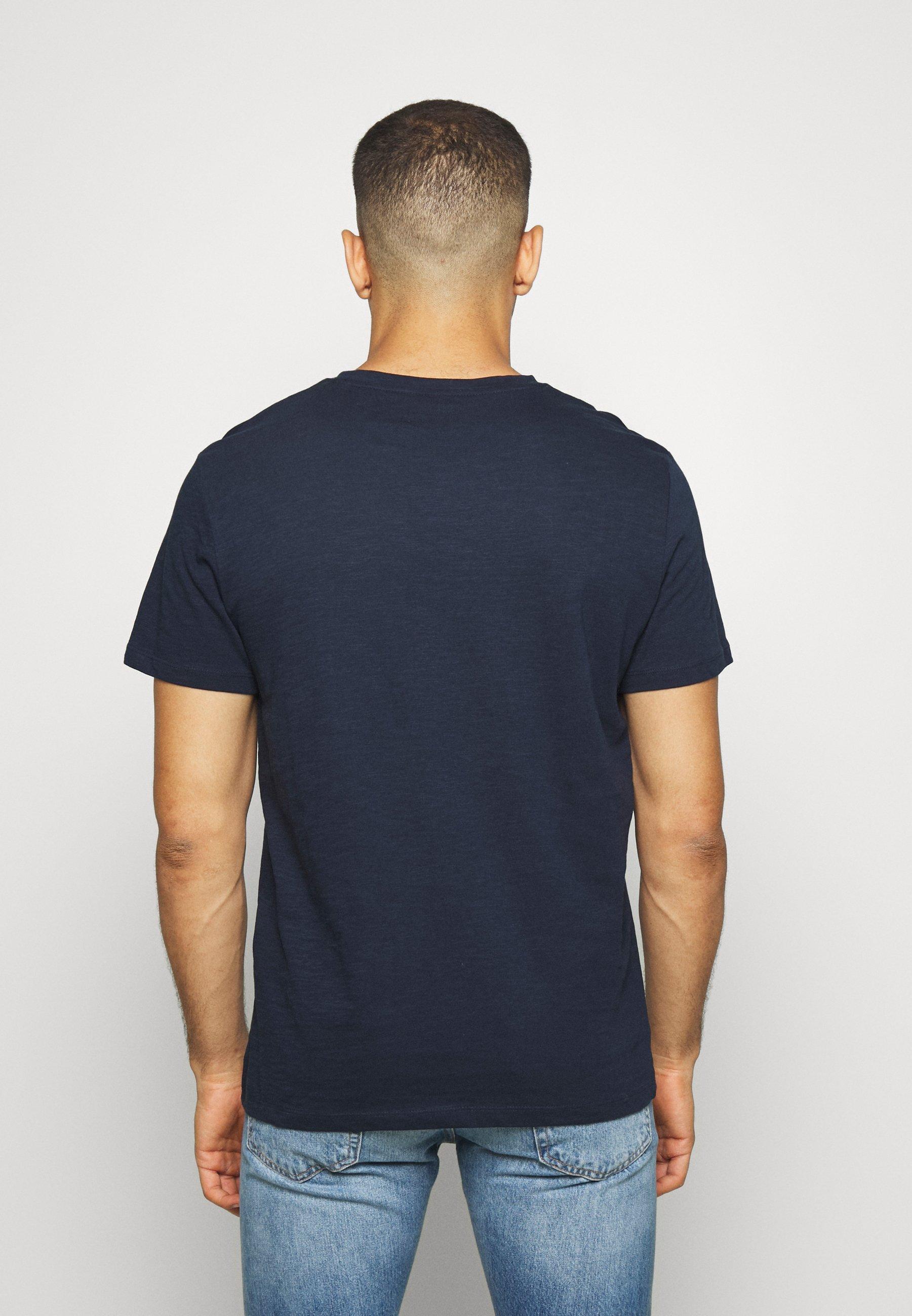 TOM TAILOR WITH POCKET - Basic T-shirt - sky captain blue fMTlQ