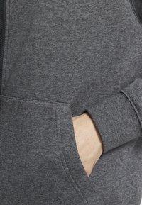 Nike Sportswear - CLUB HOODIE - Sweat à capuche zippé - charcoal heather/anthracite/white - 5