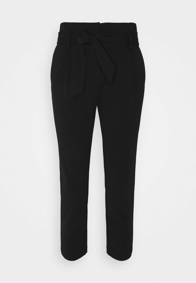 ONLCAROLINA BELT PANTS - Pantaloni - black