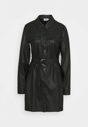 STEPHANIE DURANT X BELTED MINI DRESS - Shirt dress - black