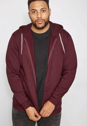 WITH POCKETS - Zip-up hoodie - red