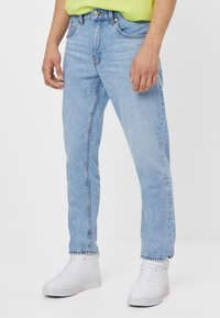 Bershka - Jean droit - blue denim - 0