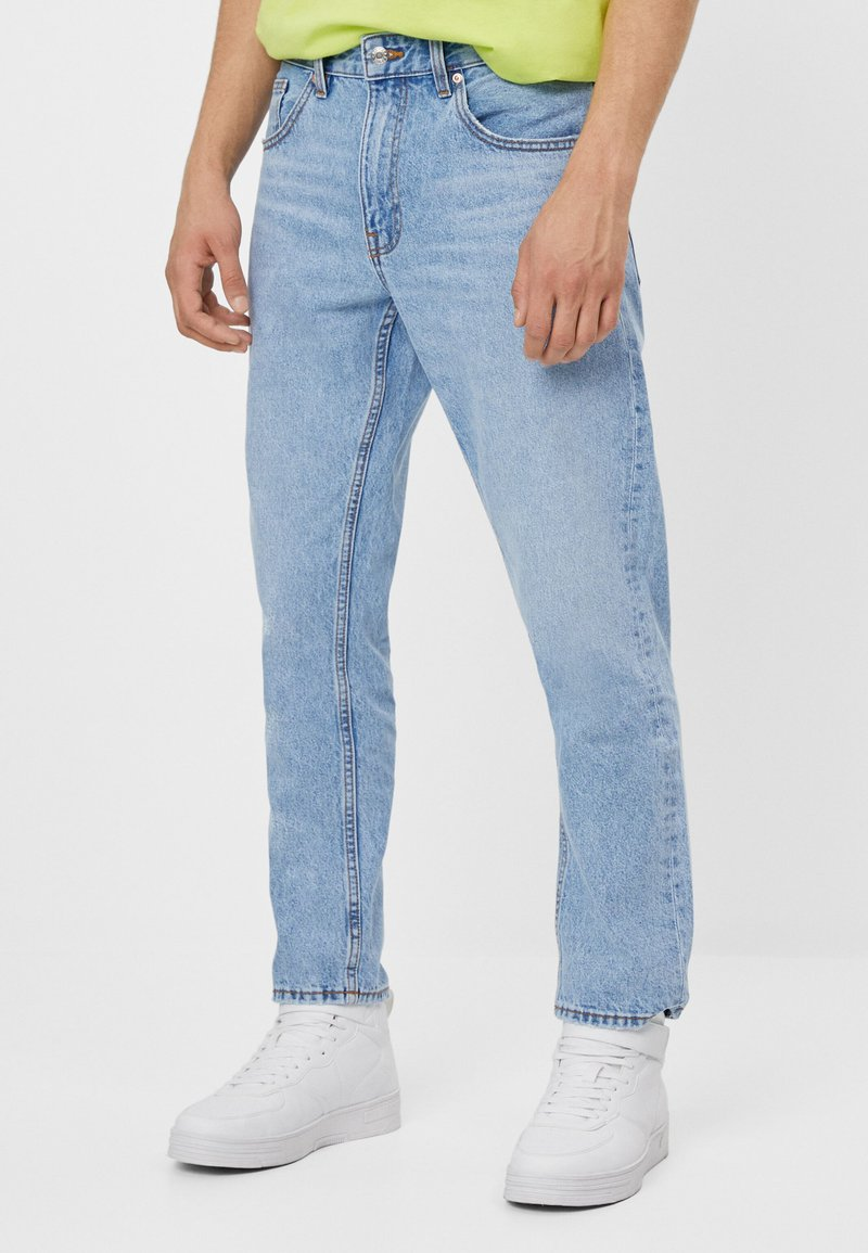 Bershka - Jean droit - blue denim