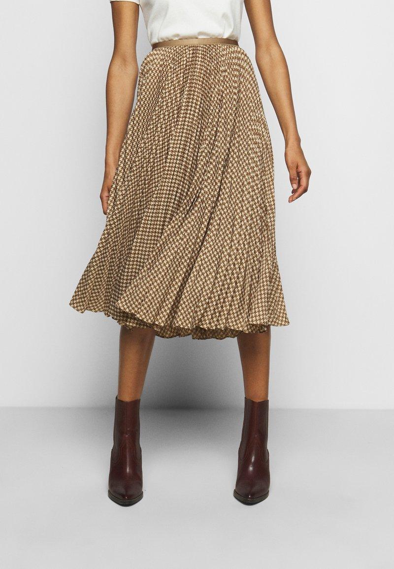 Polo Ralph Lauren - RESE SKIRT - A-line skirt - brown/tan houndst
