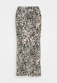 GATHERED DETAIL MIDI SKIRT - Pencil skirt - white smoke