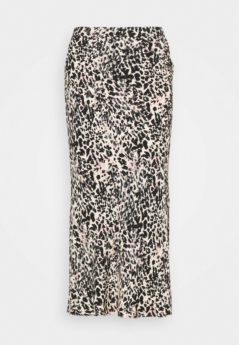 Calvin Klein - GATHERED DETAIL MIDI SKIRT - Pencil skirt - white smoke