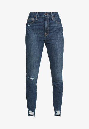 WAIST CHEWED HEM - Jeans Skinny - blue
