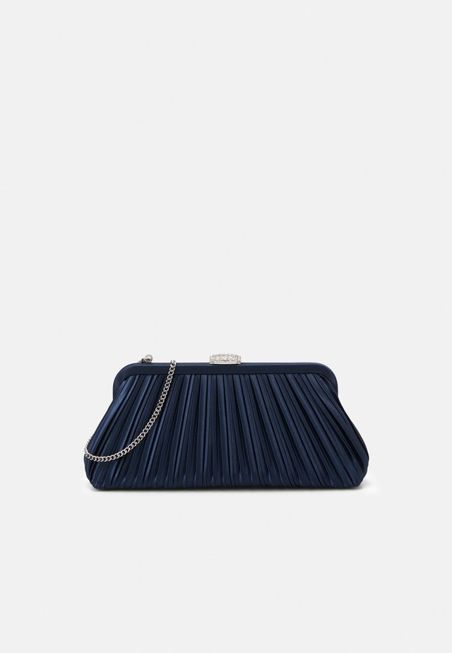 LISA PLEATED FRAME POUCH - Clutch - navy/silver