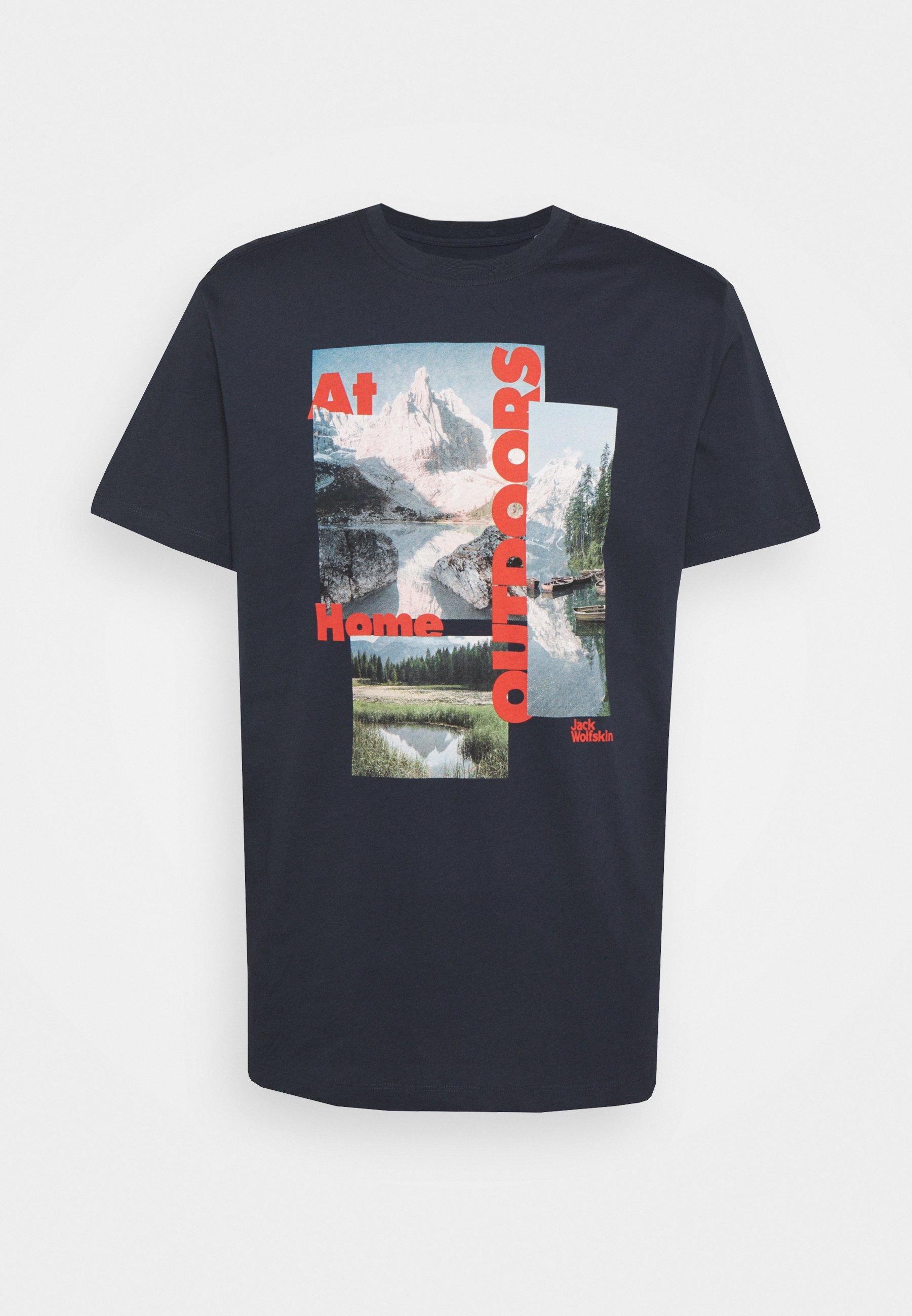 Men LAKE MORNING  - Print T-shirt