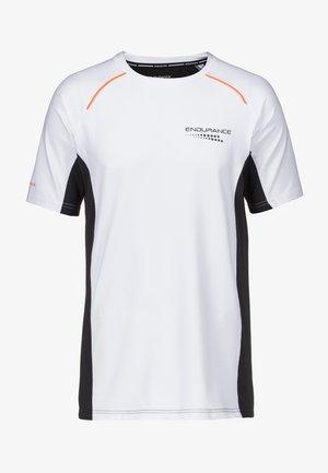 MIT QUICK DRY TECHNOLOGIE - Print T-shirt - white