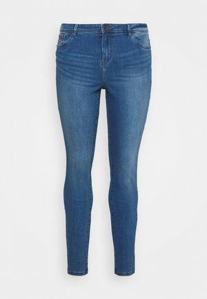 VMTANYA MRS PIPING  - Jeans Skinny - medium blue denim