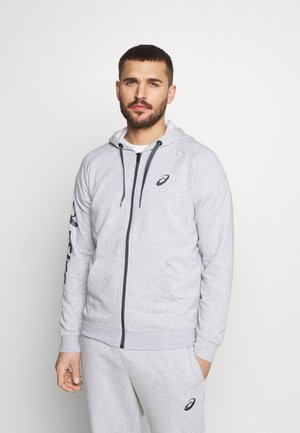 BIG  HOODIE - Hoodie met rits - mid grey heather/dark grey