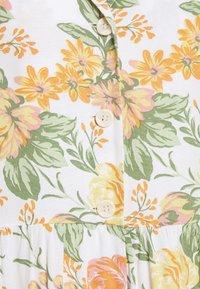 Monki - Vestido largo - white dusty light rosegarden - 5