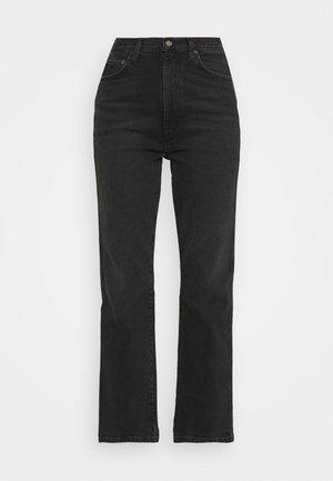 PINCH WAIST  - Straight leg jeans - washed black