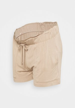 PCMNEORA FRILL - Shorts - warm taupe