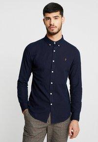 Farah - BREWER SLIM FIT - Shirt - mid indigo - 0