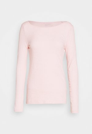LONG SLEEVE BOAT NECK - Long sleeved top - rose cream