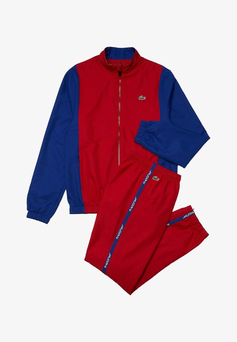 Lacoste Sport - TRACKSUIT - Tracksuit - rouge / bleu / bleu / blanc