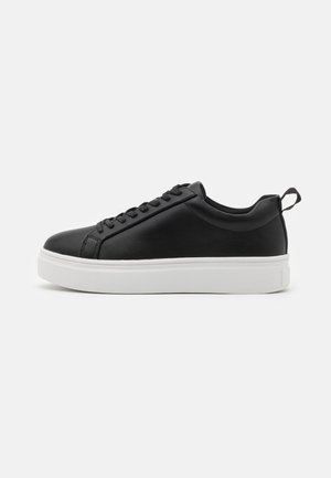 SLIM LACES COURT TRAINERS - Trainers - black