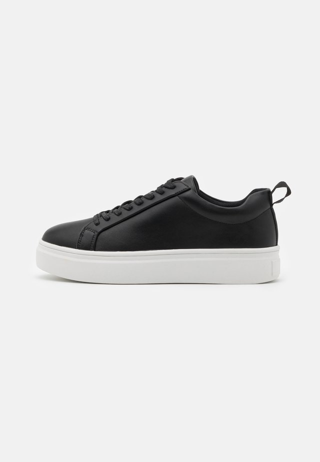 SLIM LACES COURT TRAINERS - Sneakers - black