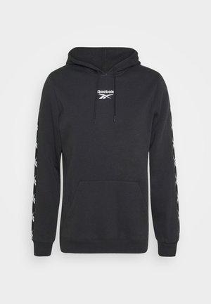 TAPE HOODIE - Bluza z kapturem - black