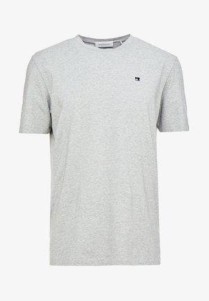 CREW NECK TEE - Jednoduché triko - grey melange