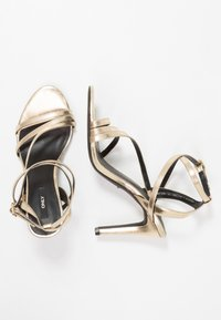 ONLY SHOES - ONLAILA CROSS  - High heeled sandals - gold - 4