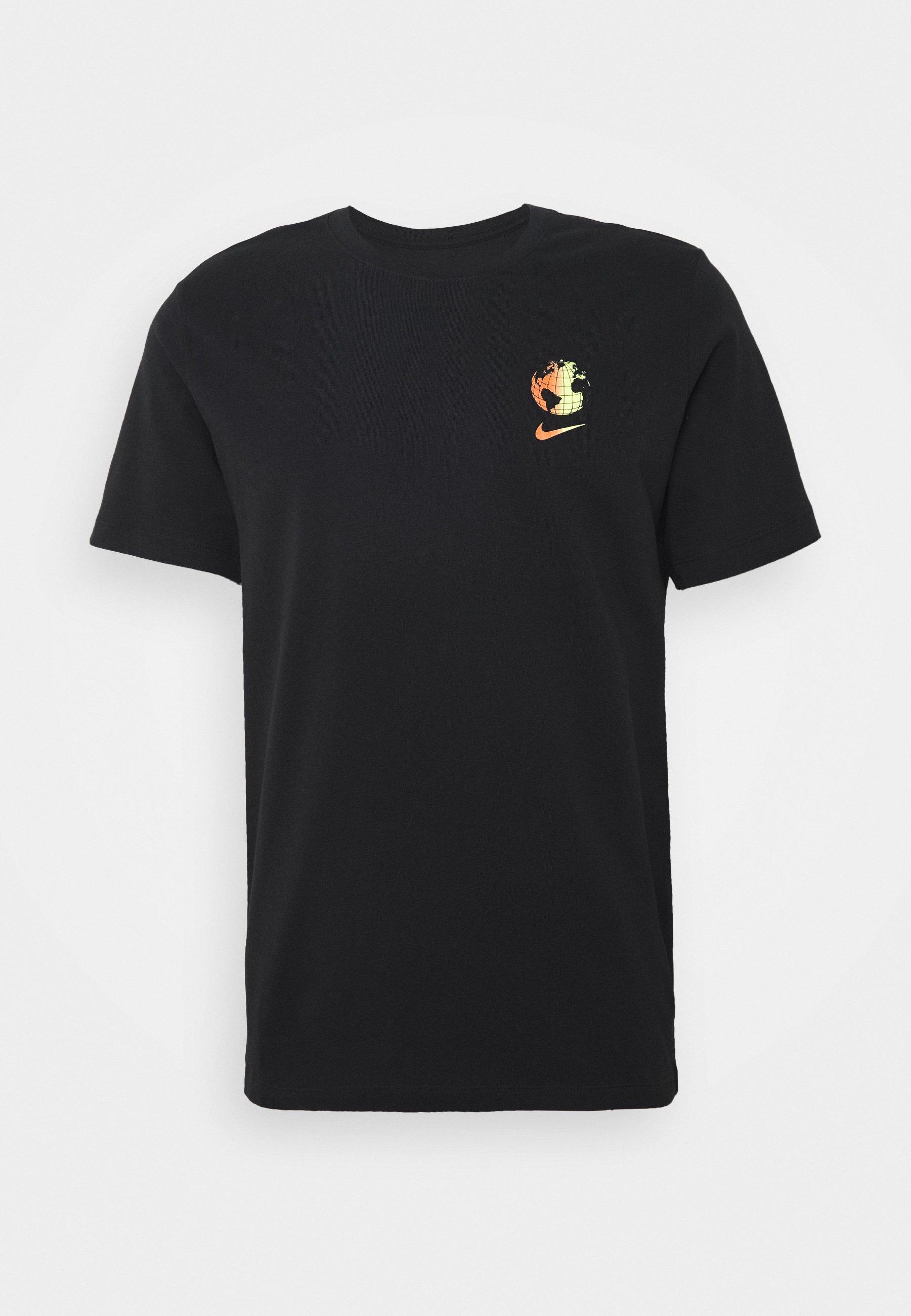 Nike Sportswear M NSW WORLDWIDE GLOBE - T-shirt imprimé - black - ZALANDO.FR