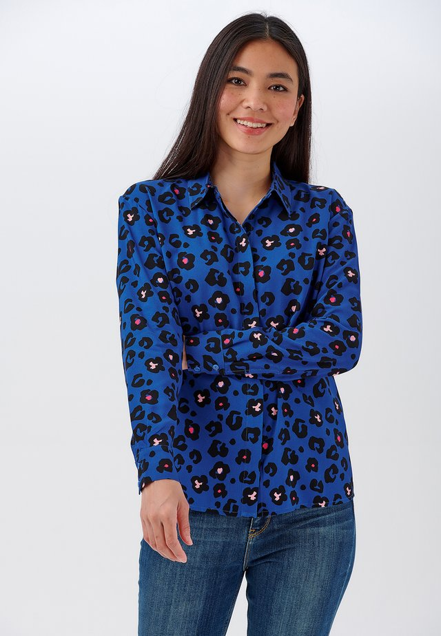 JOY ANIMAL FLORAL - Button-down blouse - blue