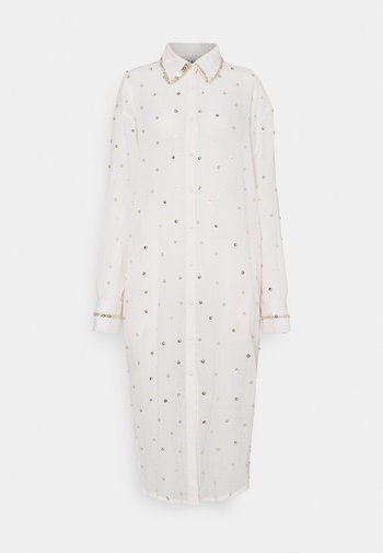 SEREN SHIRT DRESS - Košilové šaty - ecru/gold