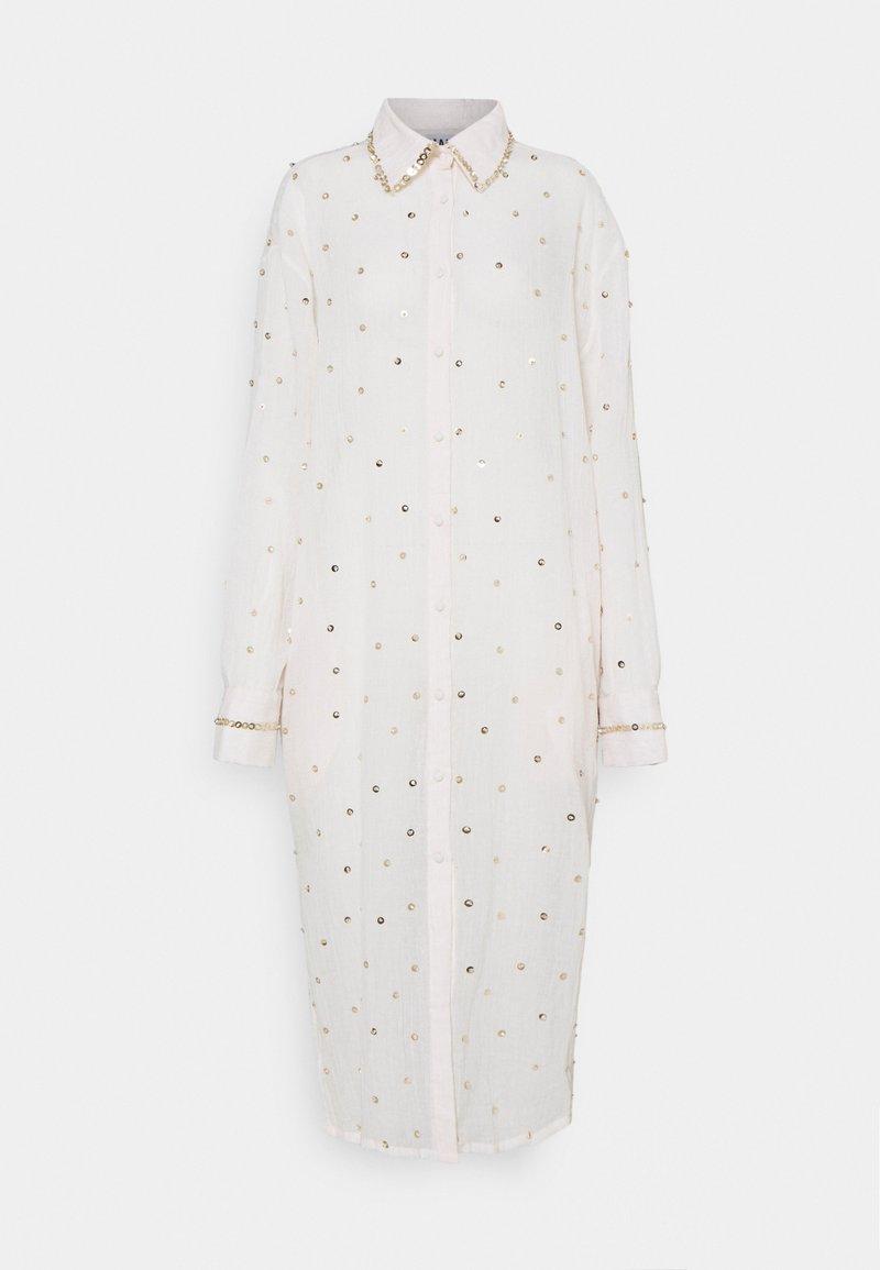 MANÉ - SEREN SHIRT DRESS - Shirt dress - ecru/gold