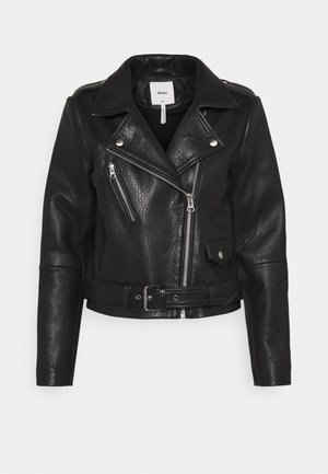 OBJMONIQUE JACKET - Giacca di pelle - black