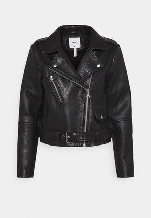OBJMONIQUE JACKET - Leather jacket - black