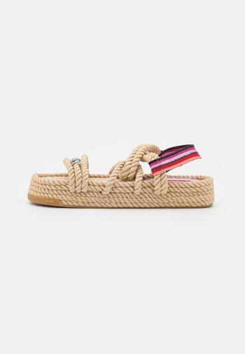 RAPALLA  - Sandály na platformě - beige