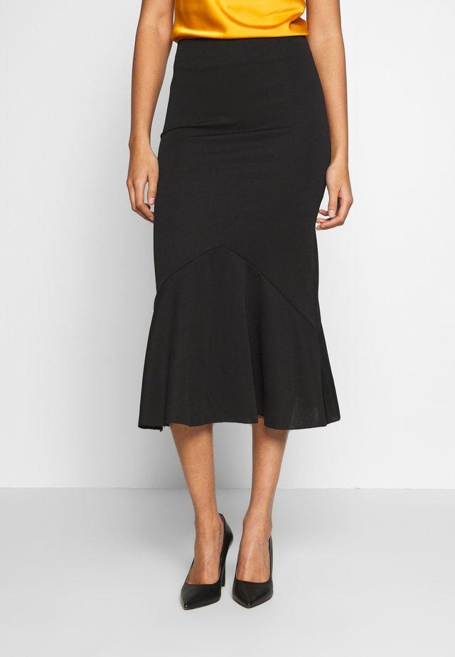 BIAS CUT DETAIL SKIRT - Pencil skirt - black