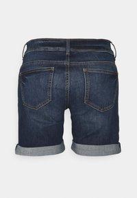 TOM TAILOR - ALEXA BERMUDA - Denim shorts - dark stone wash denim - 1