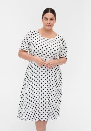Sukienka letnia - white w black dot
