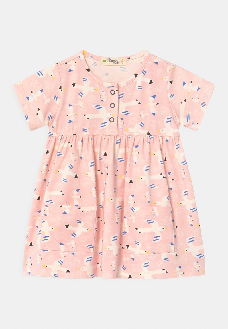 The Bonnie Mob - LOLL SHORT SLEEVE WITH POCKETS - Jersey dress - white/pink