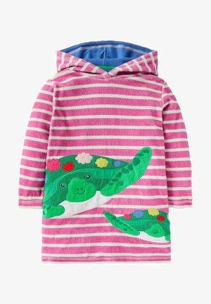 FRÖHLICHES FROTTEE - Day dress - rosarot/naturweiß, schildkröten