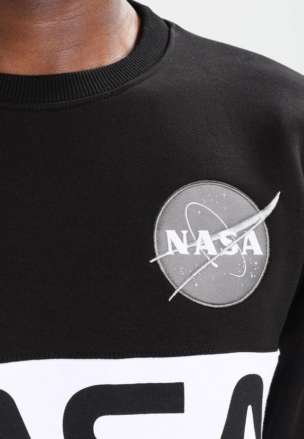 Alpha Industries NASA INLAY - Bluza - black/czarny Odzież Męska SRYG