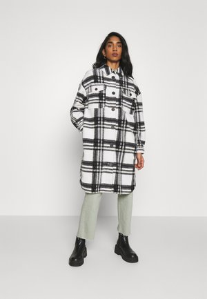 VMCHRISSIE LONG CHECK  - Classic coat - snow white/black