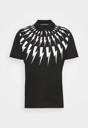FAIR ISLE THUNDERBOLT - Polo - black/white