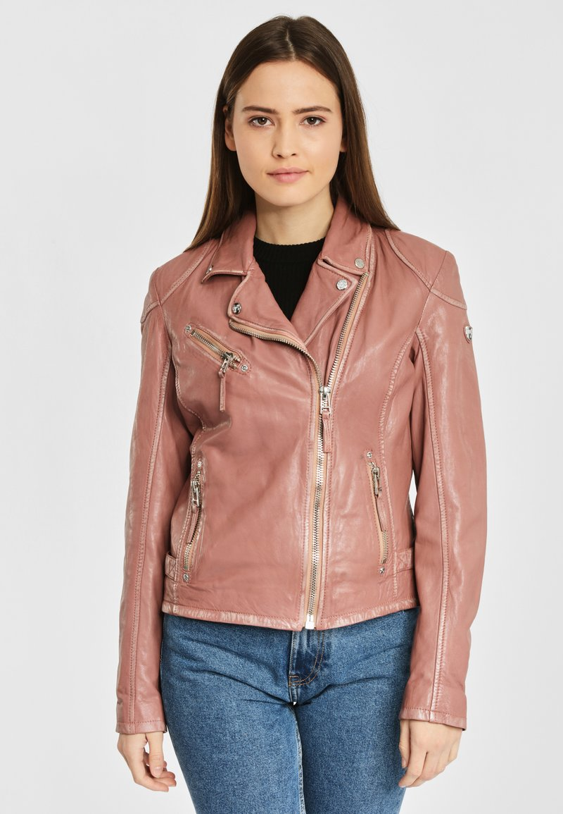 Gipsy - PGG LABAGV - Leather jacket - foggy rose