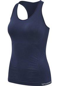 Hummel - HMLTIF SEAMLESS  - Sports shirt - black iris - 4