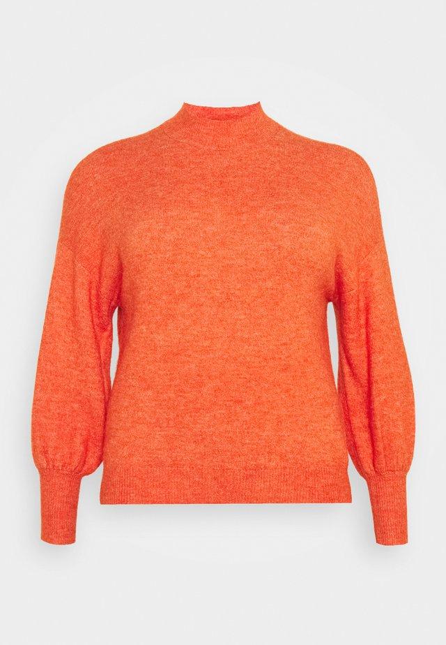 VMSIMONE HIGHNECK - Stickad tröja - red clay