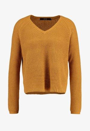 VMLEANNA V-NECK - Pullover - meerkat
