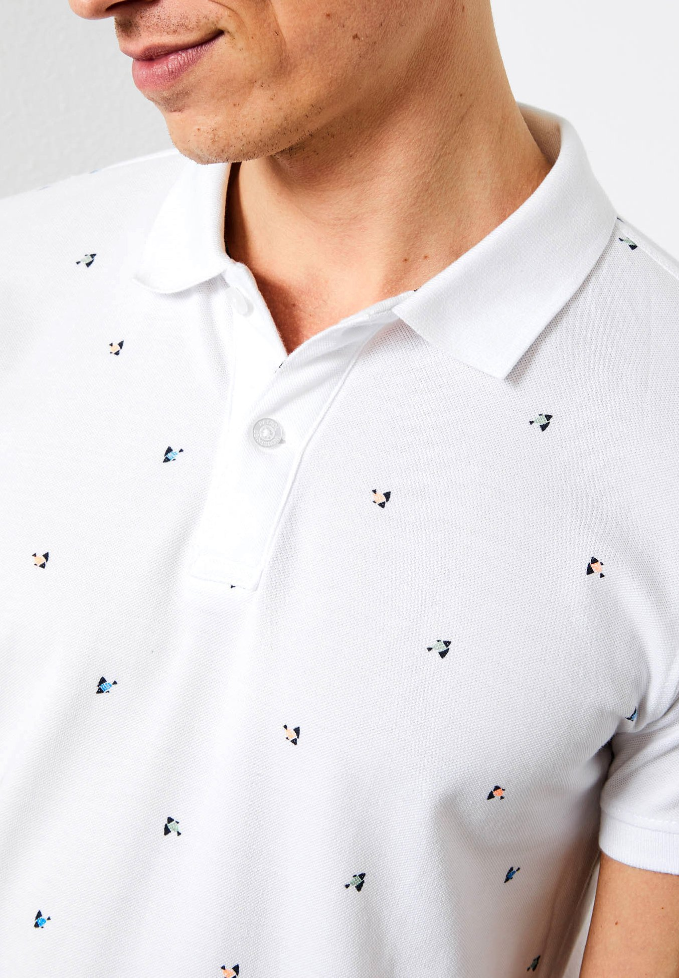 Petrol Industries Polo shirt - bright white Edt2f