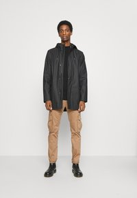GAP - LOGO MOCK - Long sleeved top - true black - 1