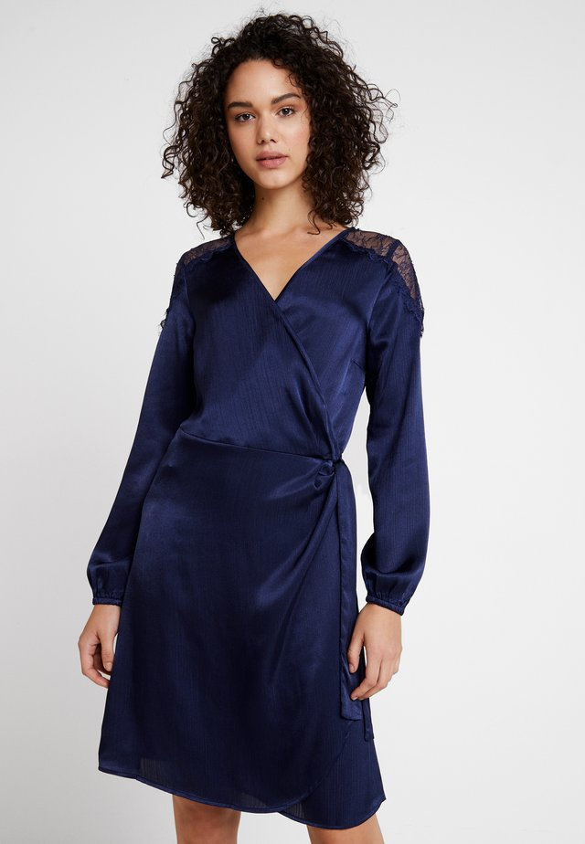 NINALC WRAP DRESS - Vestido de cóctel - captain navy