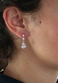Lucardi - HANGER DRUPPEL - Earrings - zilver - 0